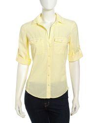 James Perse Longsleeve Contrast Poplin Shirt - Lyst