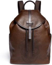 Alexander McQueen Skull Perforation Leather Backpack - Lyst