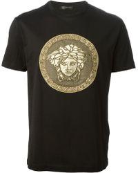 Versace Black Medusa T-shirt - Lyst