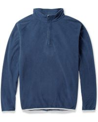 Peter Millar Zipcollar Fleece Golf Sweatshirt - Lyst