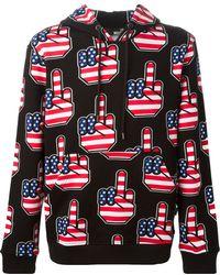 Love Moschino American Flag Hoodie - Lyst