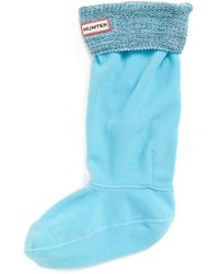 Hunter Mouline Stitched Cuff Original Tall Welly Socks - Lyst