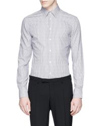 Armani Stripe Cotton Shirt gray - Lyst