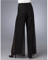 JS Collections Mesh Wide Leg Dress Pants - Lyst