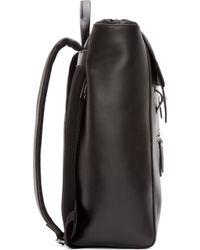 Diesel Black Leather Beat Backpack black - Lyst