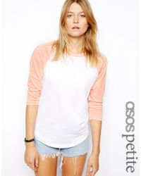 Asos Colour Block Baseball Top - Lyst