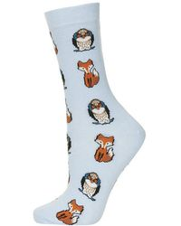 Topshop Owls and Foxes Ankle Socks - Lyst