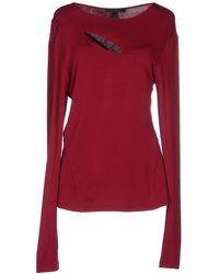 Donna Karan New York T-Shirt red - Lyst