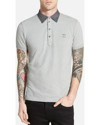 Diesel 'Antho' Extra Trim Fit Pique Polo gray - Lyst