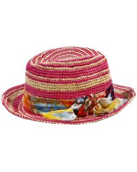 Patrizia Pepe Hat Paglia Detailed Flowers - Lyst