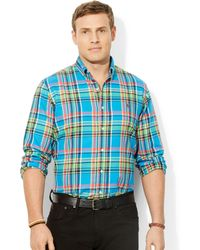 Ralph Lauren Polo Big and Tall Classic-fit Plaid Twill Shirt - Lyst