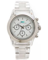 La Mer Collections - Carpe Diem Watch with Lucite Link Bracelet Clearsilver - Lyst
