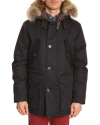 Hackett Artic Navy Parka - Lyst
