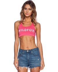 Wildfox Classic Logo Sports Bra - Lyst