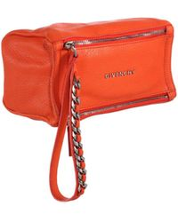 Givenchy Pandora Wristlet Pouch orange - Lyst