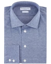Richard James - Piquet Knit Cotton Shirt - Lyst