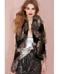 Nasty Gal Total Fox Faux Fur Scarf - Lyst