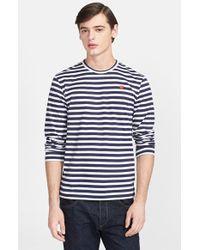 Comme des Garçons Stripe Long Sleeve T-Shirt - Lyst