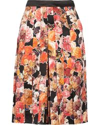 Givenchy Floral-Print Silk-Satin Culottes - Lyst