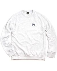 Obey Dewallen Sweat Heather Ash - Lyst