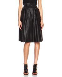 By Malene Birger Lollu Leather Skirt - Lyst