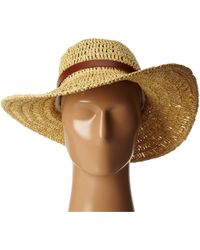 Lauren by Ralph Lauren Crochet Packable Hat W/ Belt - Lyst