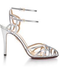 Charlotte Olympia Ursula Metallic Leather Sandals - Lyst