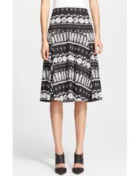Veronica Beard  Print A-Line Skirt - Lyst