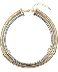 Topshop Gold and Silver Torque Necklace - Lyst