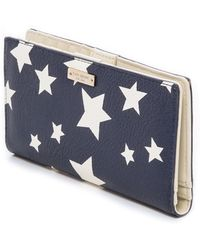 Kate Spade Stacy Wallet - French Navycream - Lyst