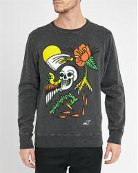 DIESEL | Black S-joe-as Print Round-neck Sweatshirt | Lyst