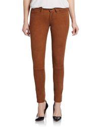 Joe's Jeans Suede Skinny Pants - Lyst