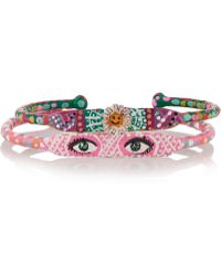 Finds - + Susan Alexandra Set Of Two Look And Sister Act Hand-Painted Bracelets - Lyst