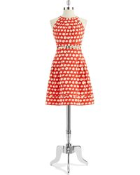 Eliza J Polka Dot Aline Dress - Lyst