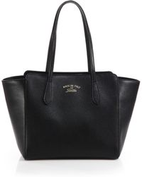 Gucci | Swing Small Leather Tote | Lyst
