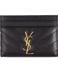 ysl card holder womens
