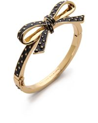 Kate Spade Finishing Touch Polka Dot Bangle Bracelet - Lyst