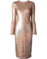 Givenchy Metallic Sequin Dress - Lyst
