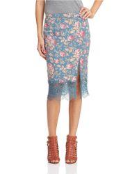 Free People Floral Story Teller Skirt - Lyst