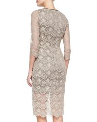 Erin Erin Fetherston Eloise 34sleeve Lace Sheath Dress - Lyst