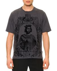 Dolce & Gabbana Flecked King-graphic Tee - Lyst