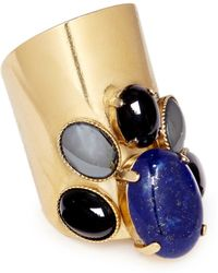 Ela Stone | 'Maïko' Lapis Lazuli Onyx Hematite Ring | Lyst