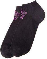 Versace Logo Ankle Socks - Lyst