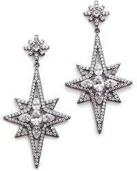 Kenneth Jay Lane Elongated Star Earrings  Clear - Lyst