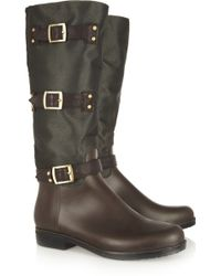 Dav - English Twill and Pvc Rain Boots - Lyst