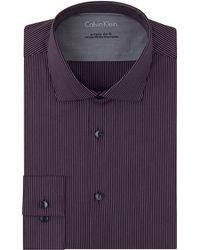 Calvin Klein Extreme Slim Fit Pinstripe Dress Shirt - Lyst