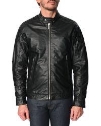 Diesel L-Monike Black Leather Jacket black - Lyst