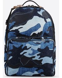 Valentino | Denim Camouflage Backpack | Lyst