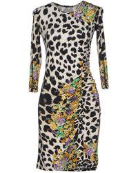Versace Animal Short Dress - Lyst