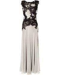 Alberta Ferretti Lace Chiffon Gown - Lyst